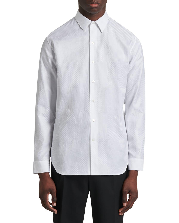 Men's Tonal Optic Plaid Sport Shirt