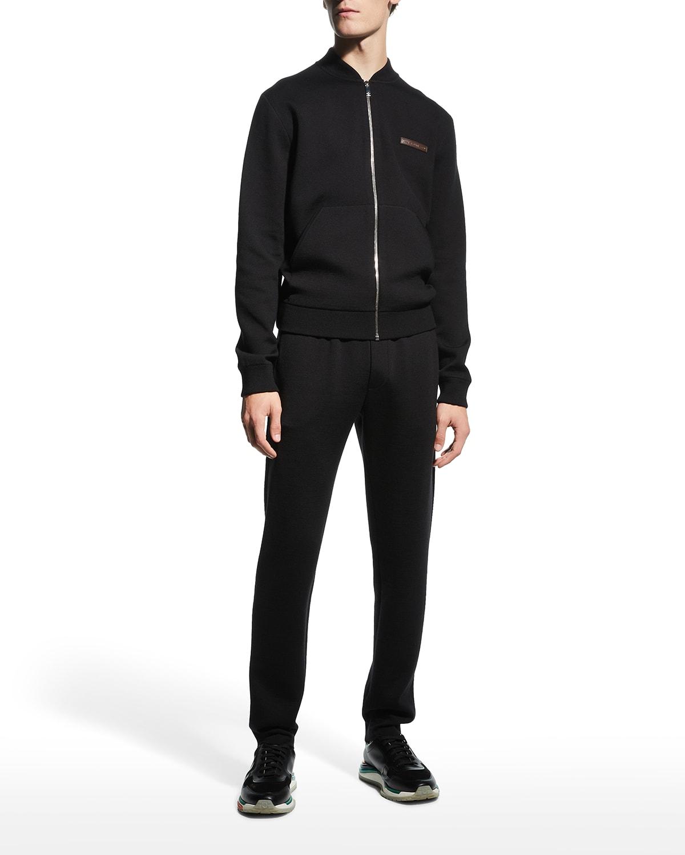 Men's Solid Wool Knit Jogger Pants