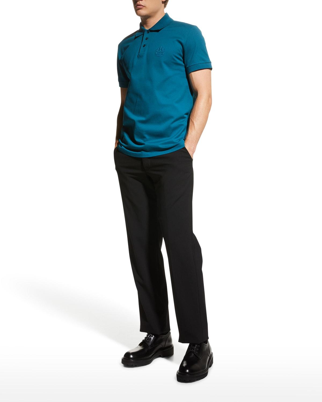 Men's Crest Pique Solid Polo Shirt