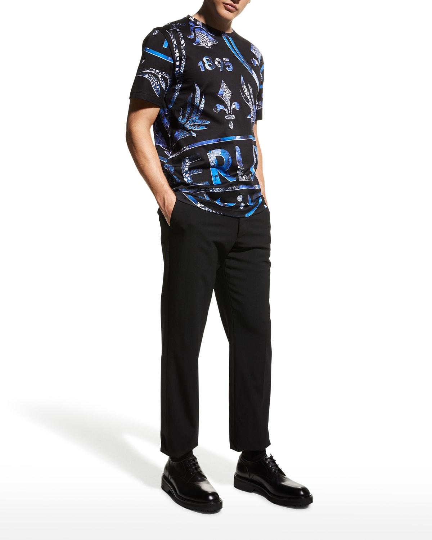 Men's Crest Logo-Print T-Shirt