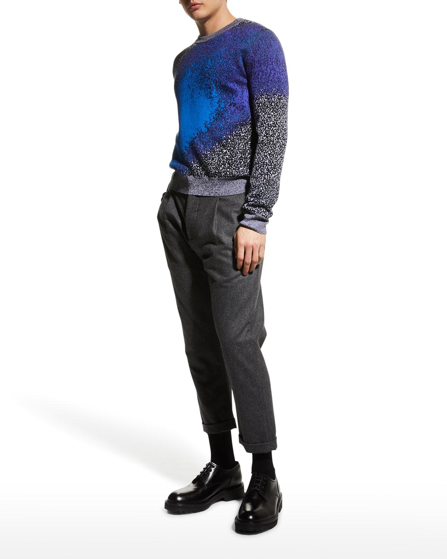 Men's Artistic Gradient-Print Sweater