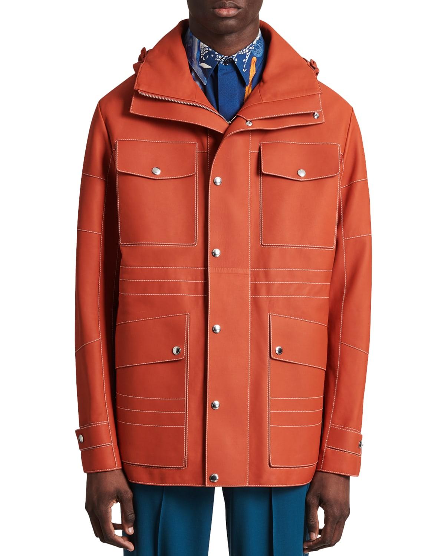 Men's Leather Field Jacket