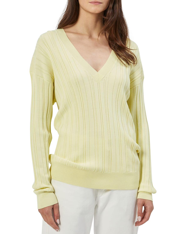 Aderes V-Neck Rib Sweater