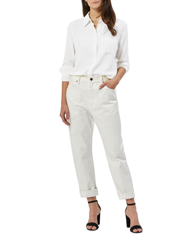 Bradner Silk Button-Down Shirt