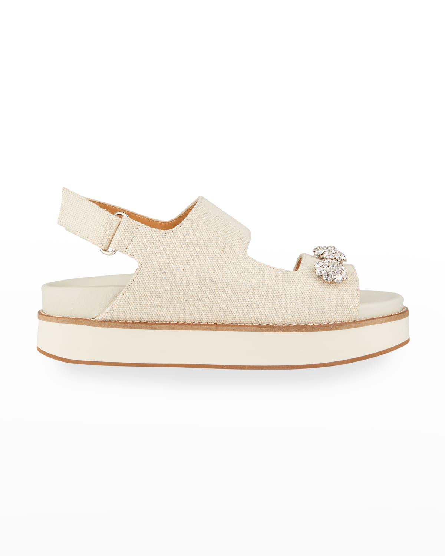 Juta Crystal-Stud Slingback Sandals