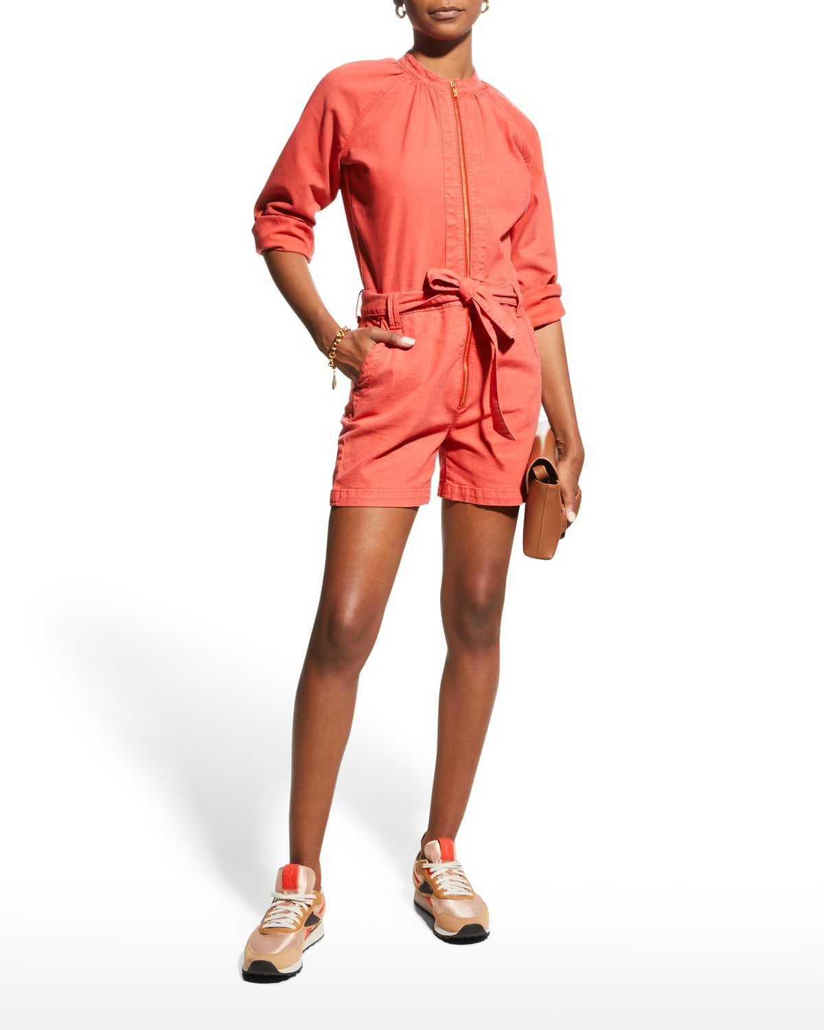 The Gatherer Zip-Front Romper