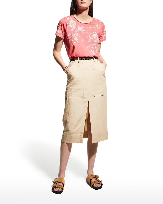 Mia Short-Sleeve Knit Tunic