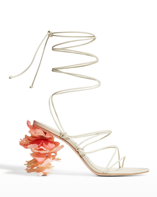 Effie Petal-Heel Strappy Gladiator Sandals