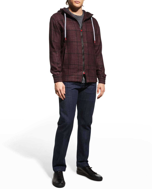 Men's Birdseye Windowpane Hooded Jacket