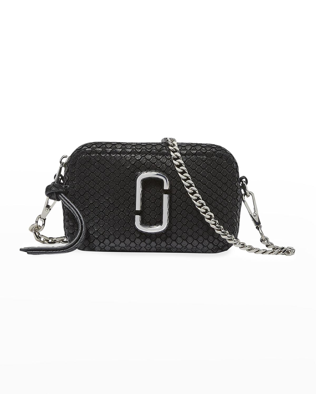 The Softshot 17 Snake-Embossed Camera Crossbody Bag