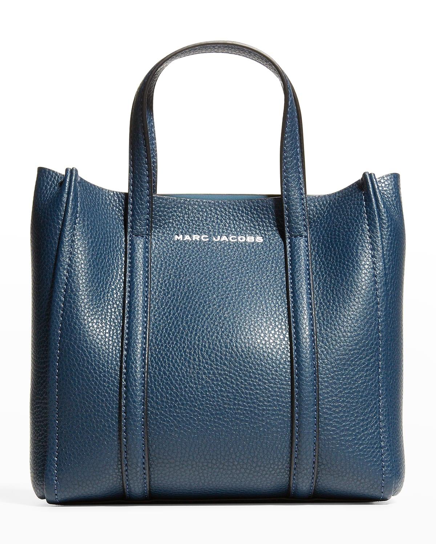Mini Leather Crossbody Tote Bag