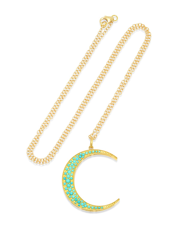 Large Turquoise Luna Necklace