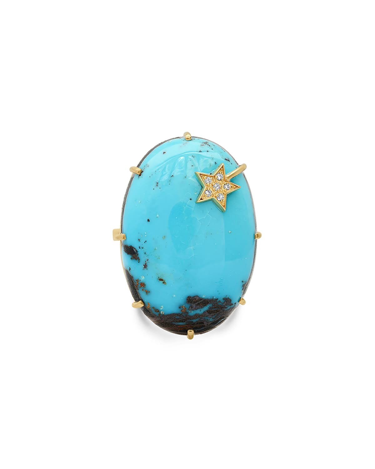 One-of-a-Kind Turquoise Ring w/ Diamond Star