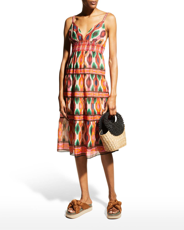 Santina Tiered Midi Dress
