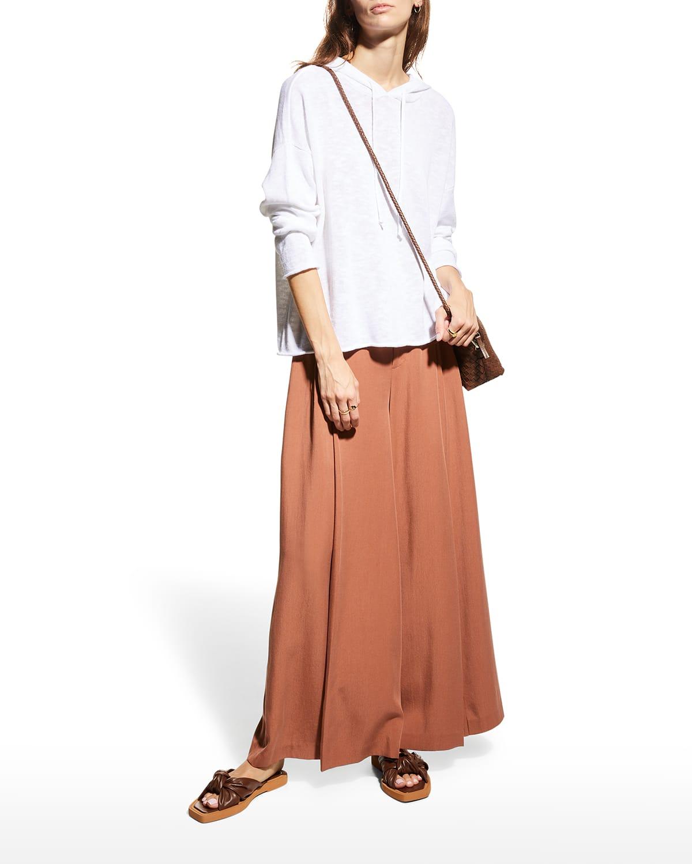 Organic Cotton-Linen Slub Short Hoodie