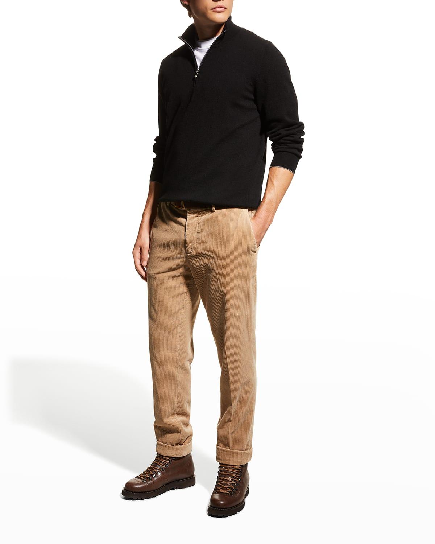 Men's Cashmere 1/4-Zip Sweater