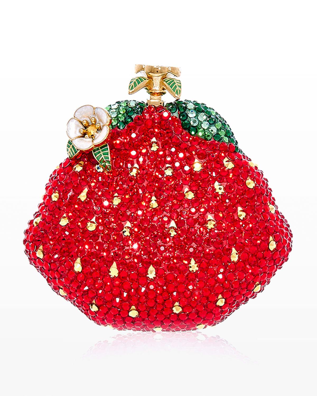 Strawberry Crystal-Embellished Pillbox