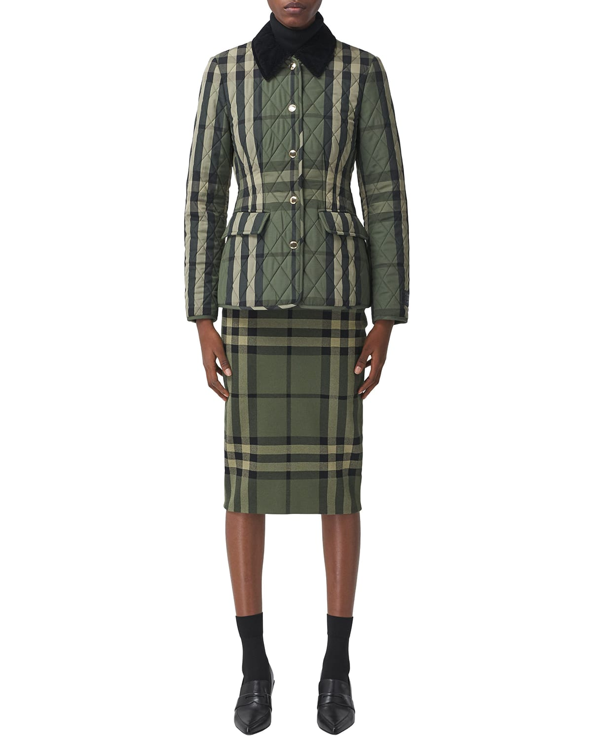 Lydd Check Quilted Equestrian Coat
