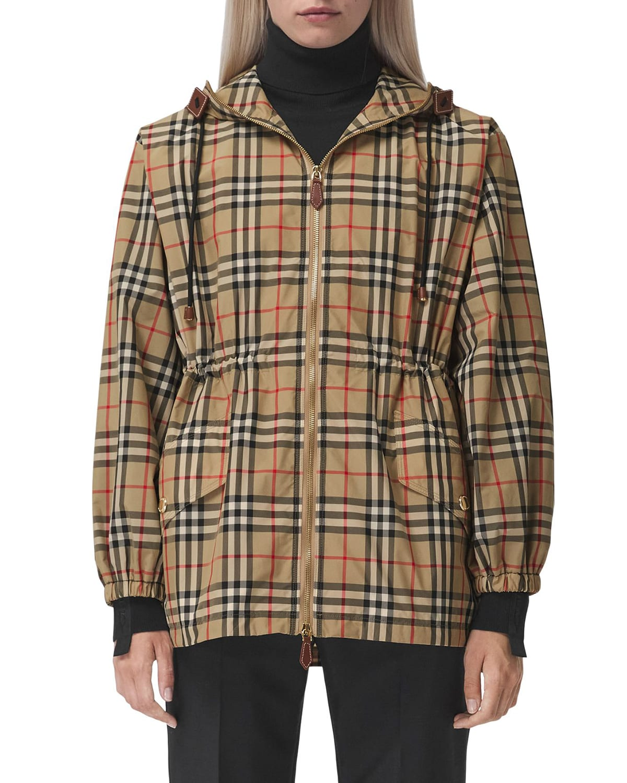Binham Vintage Check Hooded Jacket