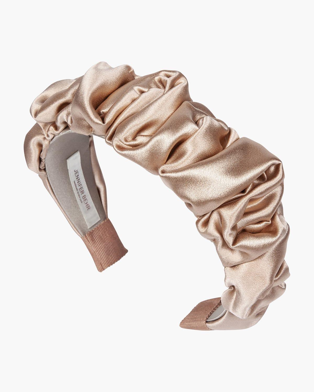 Amelia Ruched Satin Silk Headband