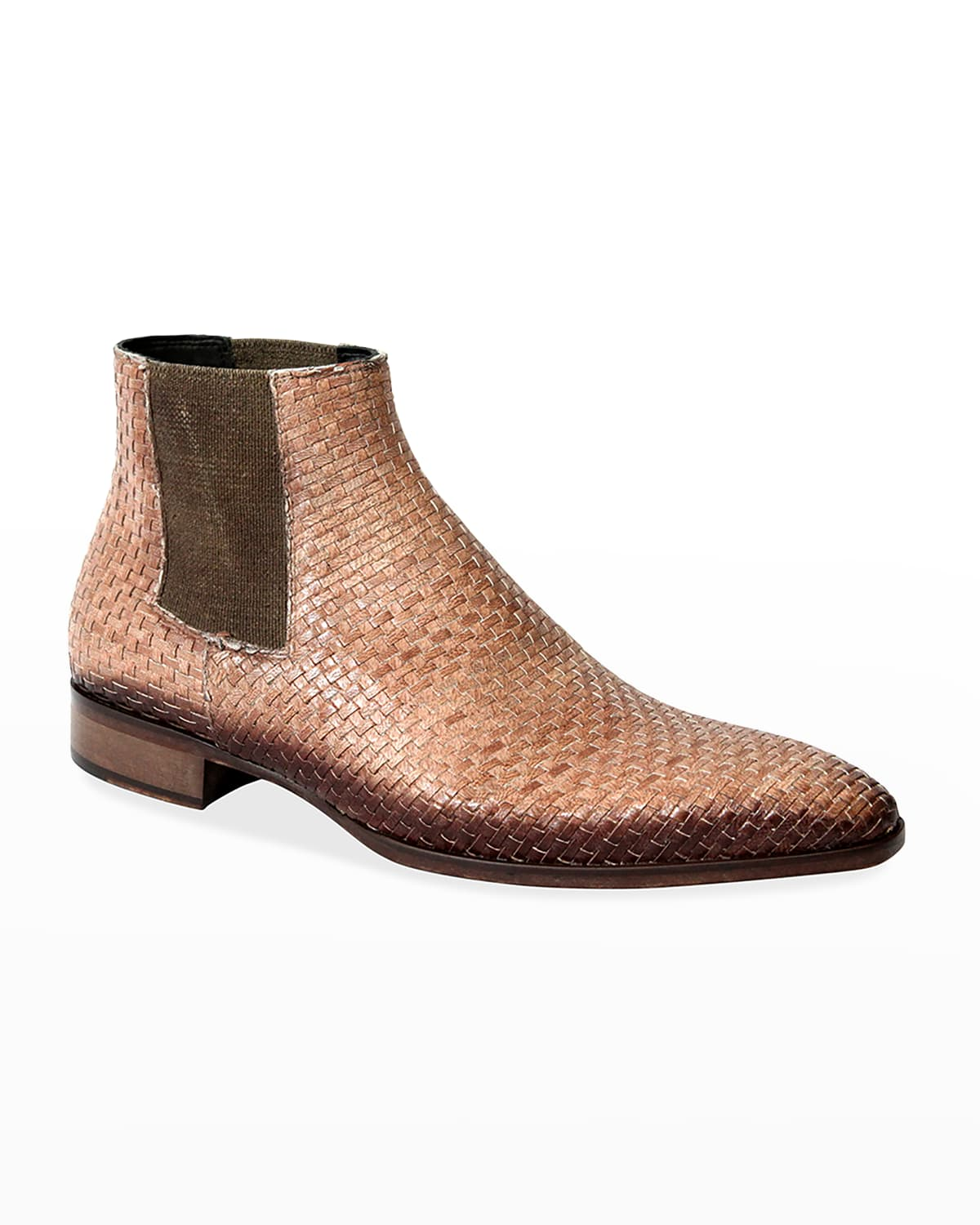 Men's Burnished Woven Chelsea Boots