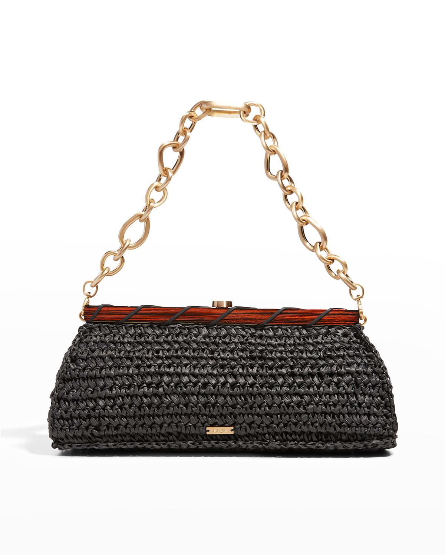 Mila Woven Chain Shoulder Clutch Bag