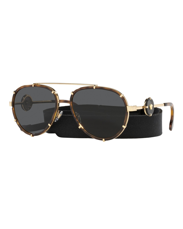 Medusa Metal Aviator Sunglasses