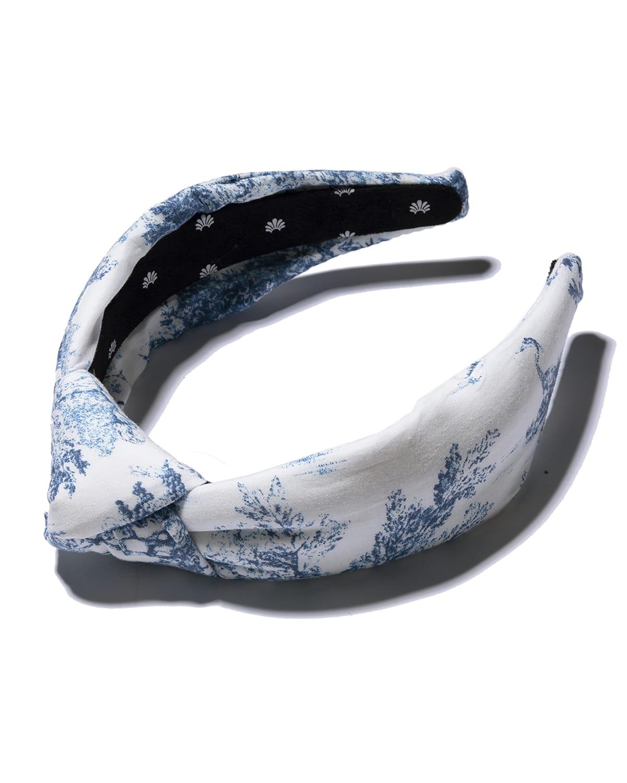 Toile-Print Knotted Headband