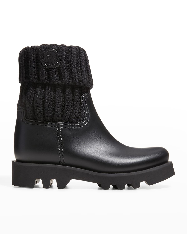 Ginette Knit Waterproof Rain Boots