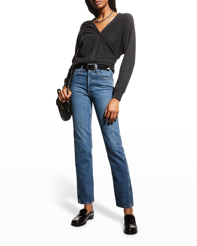 Straight-Leg Organic Denim Jeans