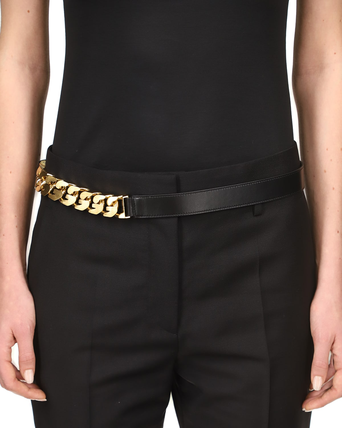 20mm Mid-Chain Leather Belt