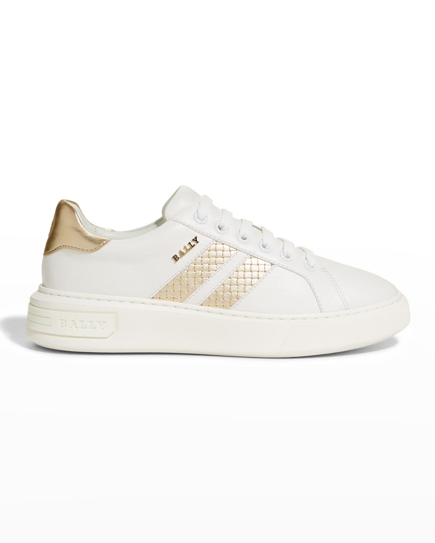 Marcus Metallic Stripe Low-Top Sneakers