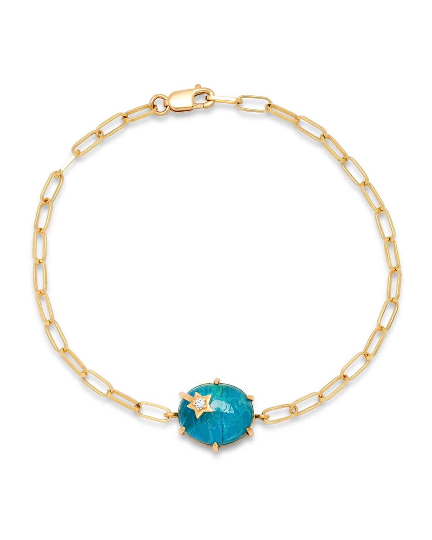 Mini Galaxy Chrysocolla Chain Bracelet