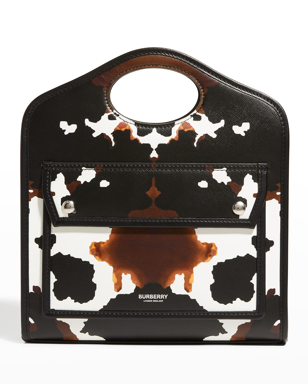 Pocket Mini Cow-Print Tote Bag