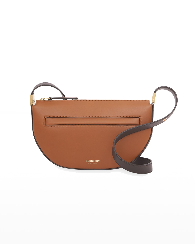 Olympia Mini Zip Bicolor Leather Shoulder Bag