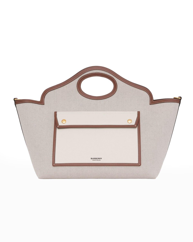 Small Soft Pocket Logo Canvas Tote Bag