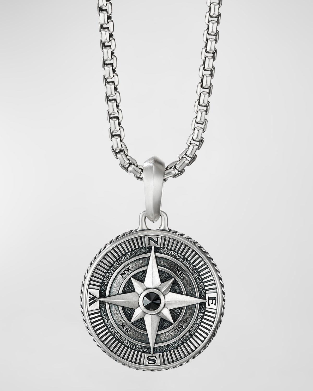 Men's 26.8mm Maritime Compass Enhancer with Black Diamond
