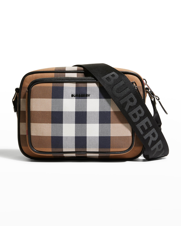 Men's Paddy Giant Check Cotton Crossbody Bag