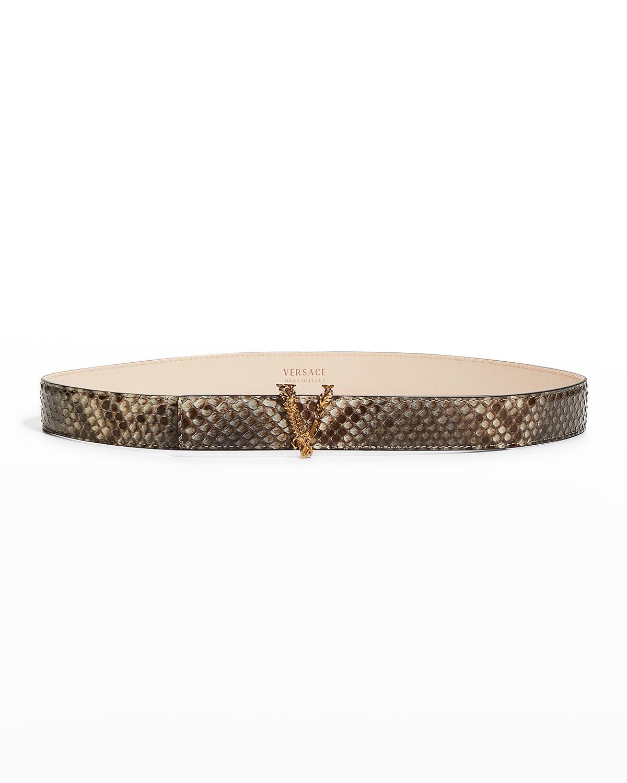 Virtus V Snake-Print Belt