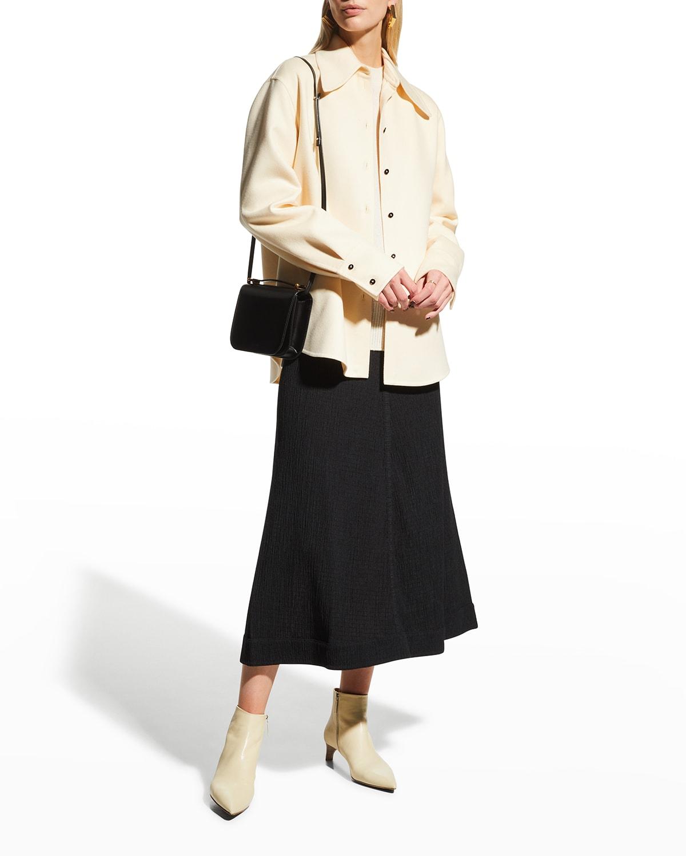 Cotton Gauze Midi Skirt