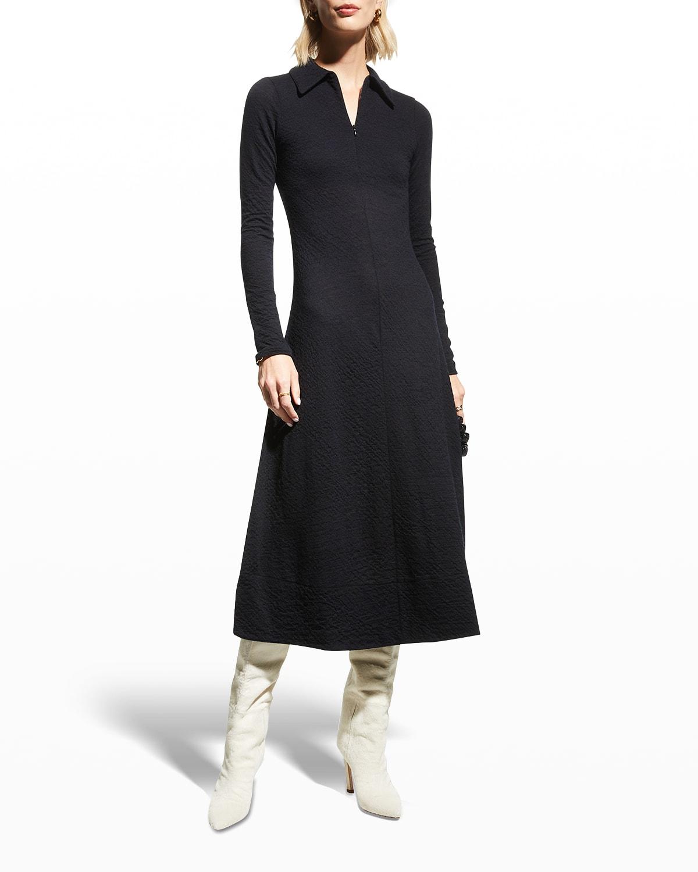 A-line Midi Shirtdress