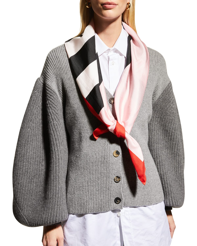 Icon Stripe Jacquard Silk Scarf
