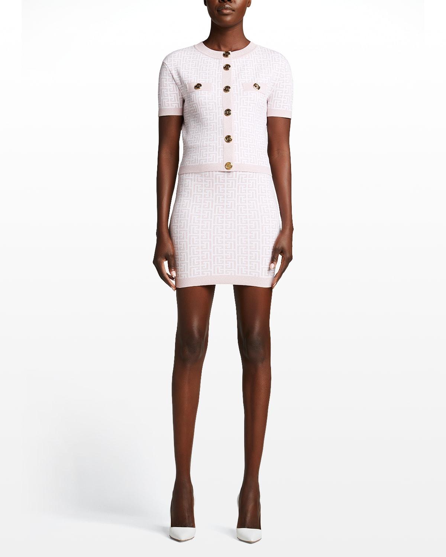 Glitter Monogram Mini Skirt