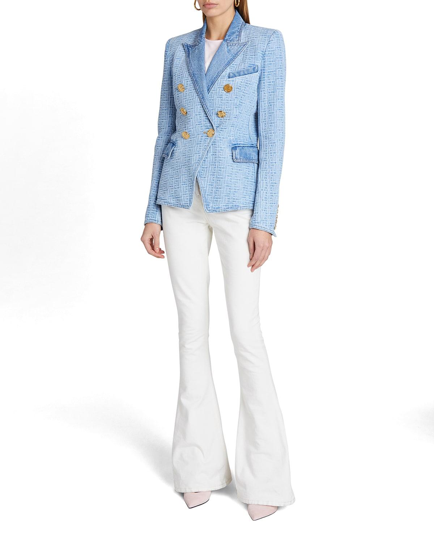 Monogram 6-Button Denim Jacket