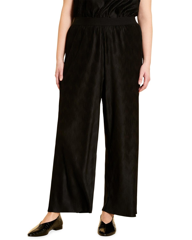 Plus Size Odino Wide-Leg Jersey Trousers