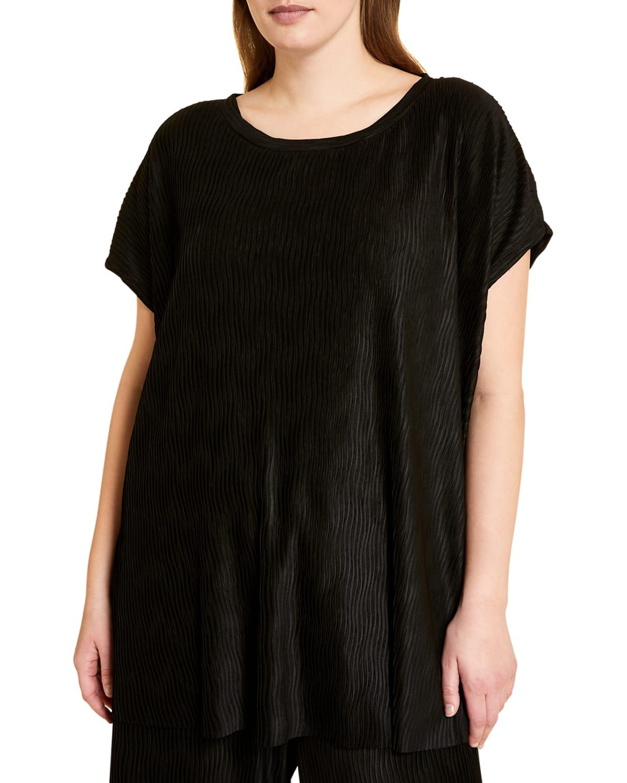 Plus Size Valletta Bark-Effect T-Shirt