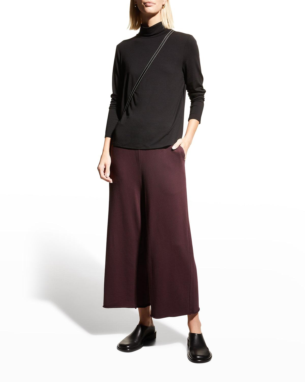 Organic Cotton French-Terry Wide-Leg Pants