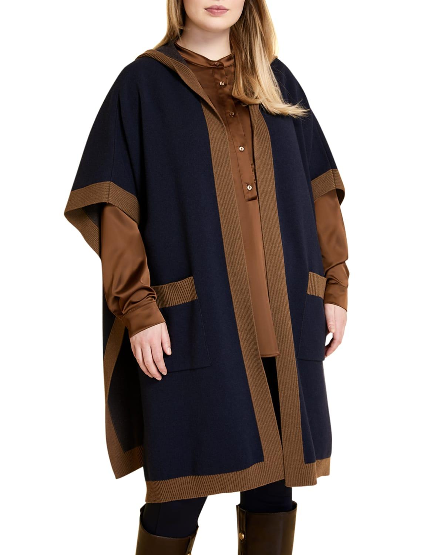 Plus Size Sabir Hooded Poncho