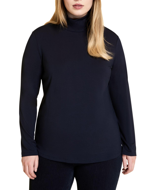 Plus Size Zaffiro Turtleneck Jersey Pullover