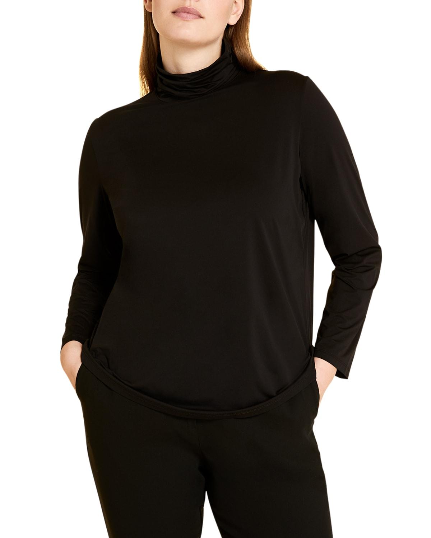 Plus Size Rossella High-Neck Jersey Sweater